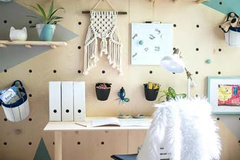 Functional Storage Space With Pegboard.
