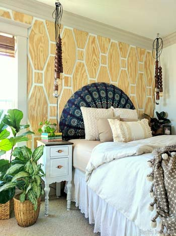 Geometric-Patterned Accent Wall.