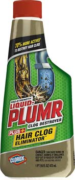Liquid-Plumr Hair Clog Eliminator Removes
