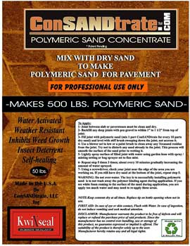 ConSANDtrate Polymeric Sand Concentrate