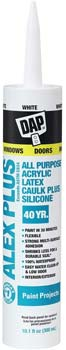 DAP INC 18152 Alex Plus Acrylic Latex Caulk with Silicone