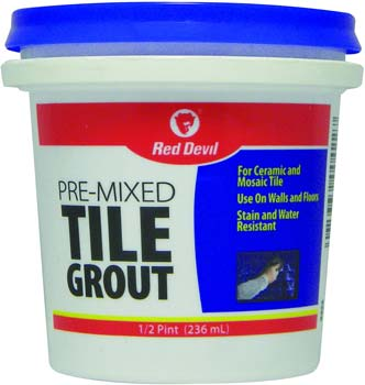 Red Devil, White Pre-Mixed Tile Grout 0422