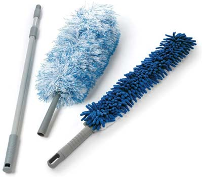 O-Cedar Dual-Action Microfiber Duster Set with Telescopic Handle