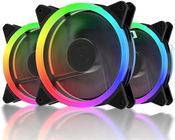 UpHere Double-Ring RGB LED Case Fan